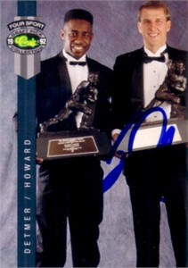 Ty Detmer autographed 1992 Classic Heisman Trophy winners card