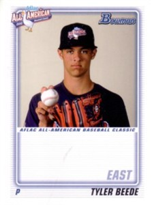 Tyler Beede 2010 AFLAC Bowman Rookie Card