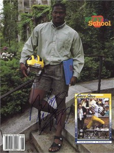 Tyrone Wheatley autographed Michigan Wolverines Beckett magazine back cover photo