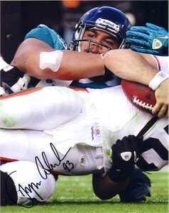 Tyson Alualu autographed Jacksonville Jaguars 8x10 photo