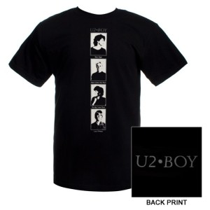 U2 Boy black T-shirt NEW