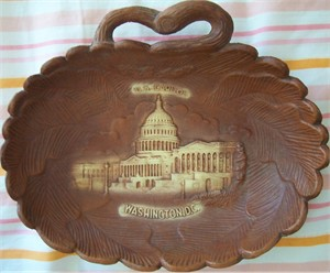 U.S. Capitol Building Washington D.C. engraved plastic snack tray