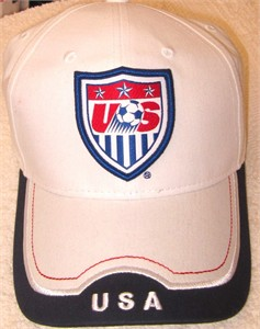 U.S. Soccer logo embroidered red white and blue cap or hat NEW WITH TAGS