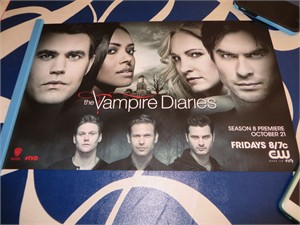 Vampire Diaries cast 2016 Comic-Con exclusive 11x17 mini poster