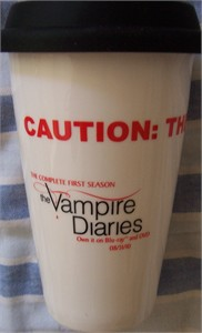 Vampire Diaries 2010 Comic-Con promo Terra thermal travel coffee cup NEW IN BOX