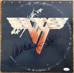 Autographed Van Halen II record album (David Lee Roth Alex & Eddie Van Halen)