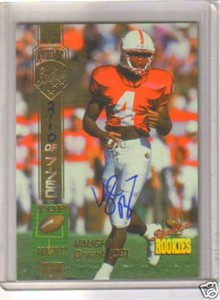 Vaughn Bryant Stanford certified autograph 1994 Signature Rookies card