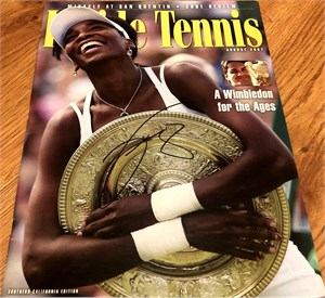 Venus Williams autographed 2004 Inside Tennis magazine