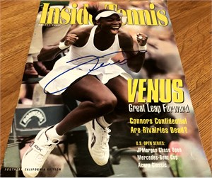 Venus Williams autographed 2005 Inside Tennis magazine