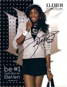 Venus Williams autographed Eleven promotional 8 1/2 x 11 photo