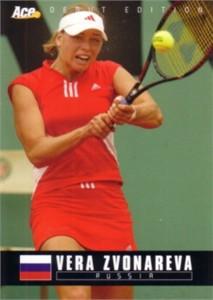 Vera Zvonareva 2005 Ace Authentic Rookie Card