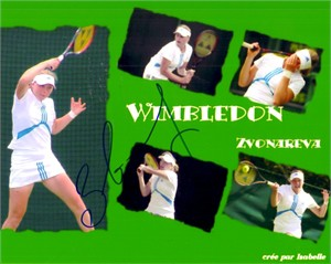 Vera Zvonareva autographed 8x10 tennis photo