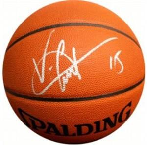 Vince Carter autographed NBA basketball (Steiner)