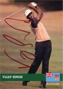 Vijay Singh autographed 1992 Pro Set Rookie Card