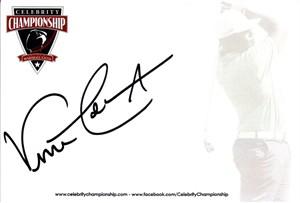 Vince Coleman autographed 4x6 signature card