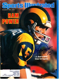 Vince Ferragamo autographed Los Angeles Rams 1980 Sports Illustrated