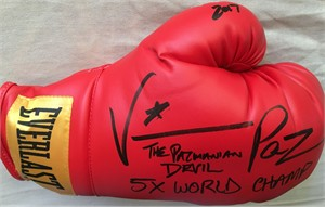 Vinny Pazienza autographed Everlast boxing glove inscribed 5X WORLD CHAMP & Pazmanian Devil