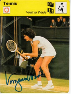 Virginia Wade autographed 1978 Sportscaster card