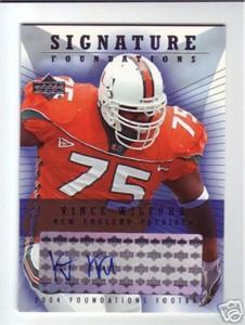 Vince Wilfork certified autograph Miami Hurricanes 2004 Upper Deck card