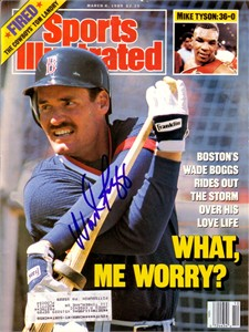 Wade Boggs autographed Boston Red Sox 1989 Sports Illustrated