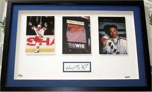 Wayne Gretzky autographed New York Rangers Goal 1072 framed photos UDA #29/99