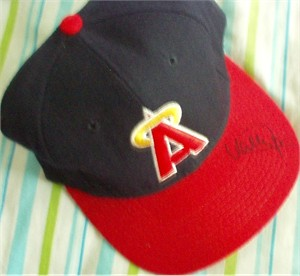 Wally Joyner autographed Angels game model throwback cap