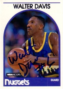 Walter Davis autographed Denver Nuggets 1989-90 Hoops card