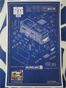 Walking Dead Dale's RV 2015 San Diego Comic-Con exclusive Todd McFarlane mini poster
