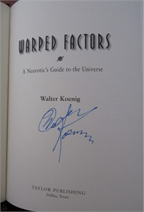 Walter Koenig autographed Star Trek Warped Factors hardcover book