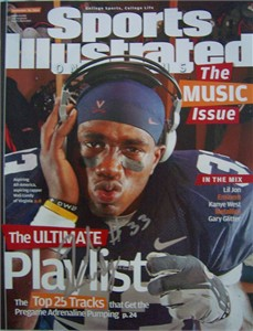 Wali Lundy autographed Virginia Cavaliers Sports Illustrated on Campus magazine