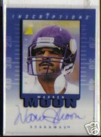 Warren Moon certified autograph Minnesota Vikings Pinnacle Inscriptions card
