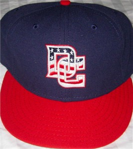 Washington Nationals 2009 & 2010 Stars and Stripes authentic New Era alternate game model cap or hat