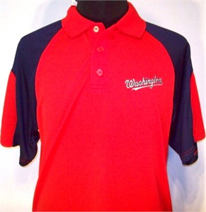 Washington Nationals blue and red golf or polo shirt NEW WITH TAGS