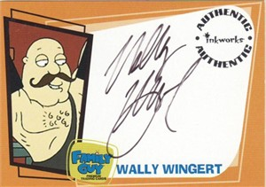 Wally Wingert Family Guy certified autograph card (Barnaby)