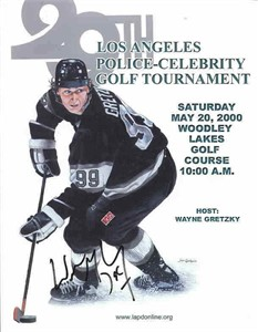 Wayne Gretzky autographed Los Angeles Kings celebrity golf program