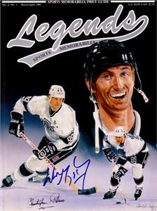Wayne Gretzky autographed Los Angeles Kings Legends magazine