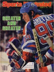 Wayne Gretzky autographed Edmonton Oilers 1984 Sports Illustrated