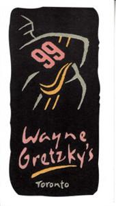 Wayne Gretzky's Toronto restaurant 1990s business card