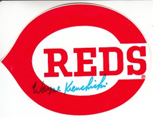 Wayne Krenchicki autographed Cincinnati Reds decal or sticker