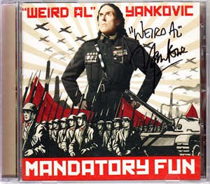 Weird Al Yankovic autographed Mandatory Fun CD booklet with CD
