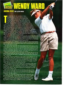 Wendy Ward autographed full page golf magazine photo