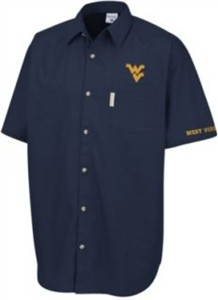 West Virginia Mountaineers blue Columbia Sportswear shirt NEW WITH TAGS