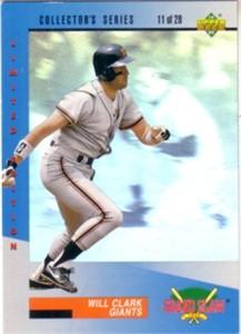 Will Clark 1993 Upper Deck Denny's Grand Slam hologram card