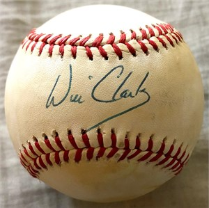Will Clark autographed National League baseball