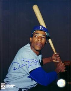 Willie Davis autographed Los Angeles Dodgers 8x10 photo