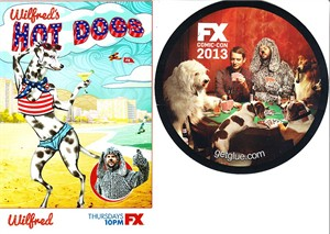 Wilfred 2013 Comic-Con exclusive promo 4x6 card and sticker