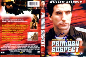 William Baldwin autographed Primary Suspect DVD cover insert