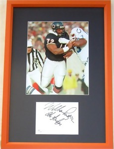 William (The Refrigerator) Perry autograph matted & framed with Chicago Bears 8x10 photo JSA