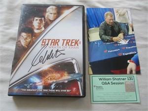 William Shatner autographed Star Trek II The Wrath of Khan DVD cover insert