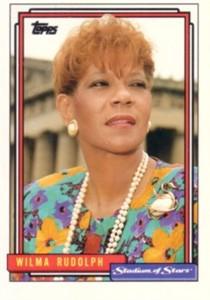 Wilma Rudolph 1992 Topps Stadium of Stars promo card
